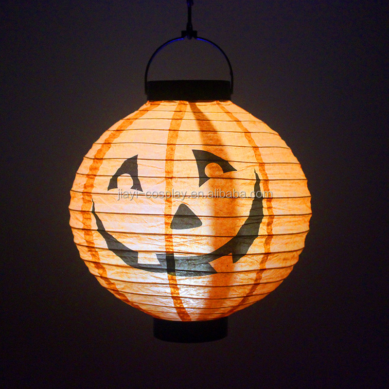 Halloween Zucca LED Hanging Lanterna di Carta Luce Spider Bat Scheletro Luce Lampada Holiday Party Decor Spaventoso
