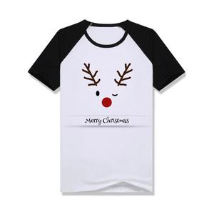 Merry Christmas Raglan Elk Printing Screen Printing T shirts Manufacturer Bangladesh
