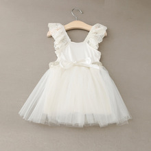 Girl rhinestone Dress Princess Lace Flower Dress Girls Clothes Kids Dresses for Girls Costumes