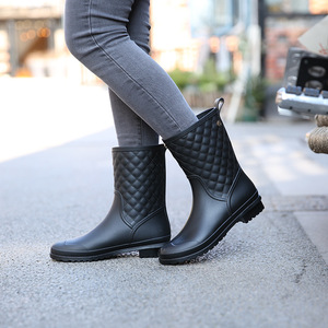 2018 fashion black water boots for sexy women fashion women rain boots ladies rain boots