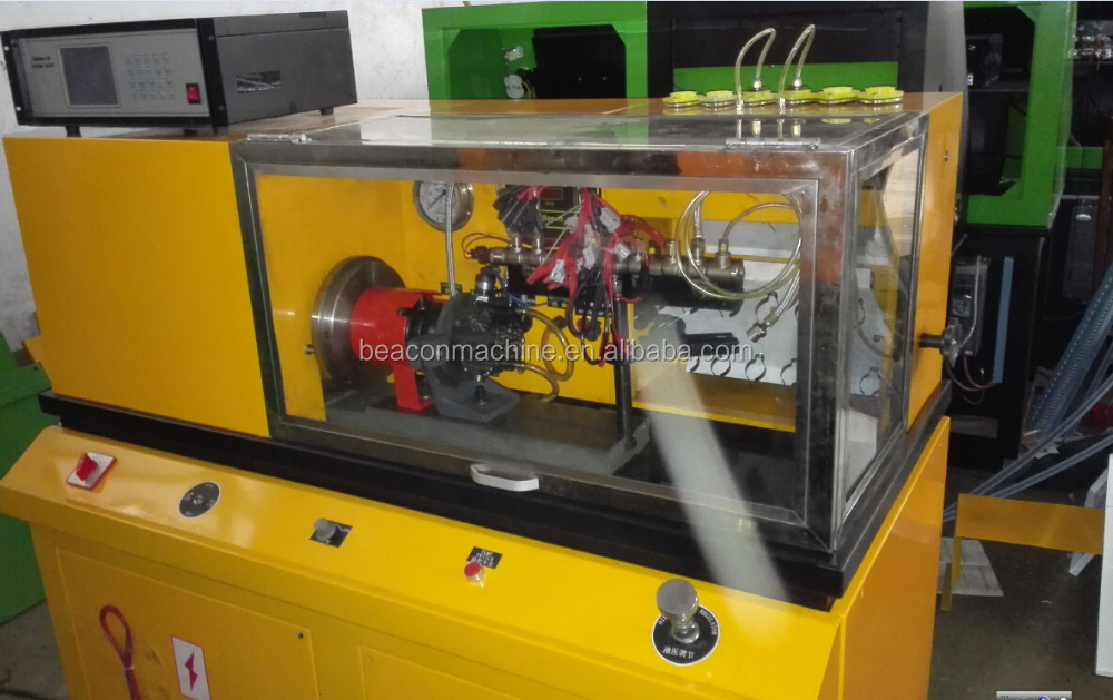 BEACON BC-CRS3 Digital Meters Common Rail System Tester driving six common rail high-pressure pump and injectors work together