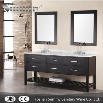 72 Inches Double Sink Solid Wood Bathroom Wooden Cabinet Double