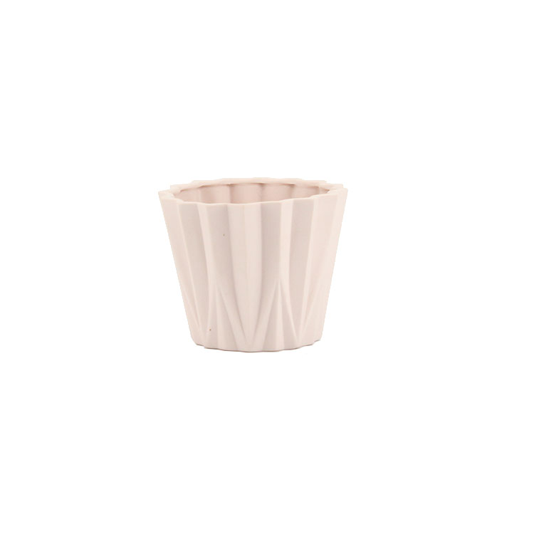 Practical garden decoration house style light weight cute ceramic flower plant pot