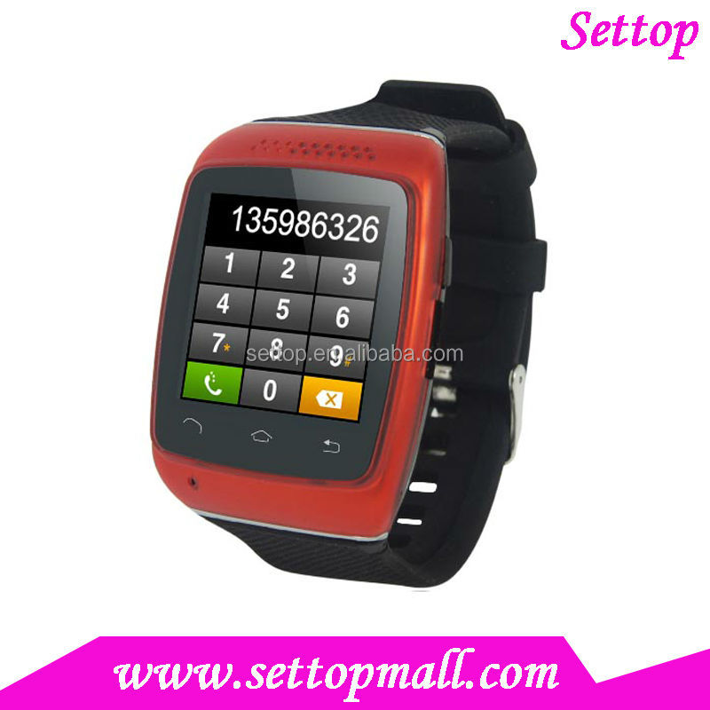 hand watch mobile phone price newest capacitive touch S12 sync facebook twitter email pedometer