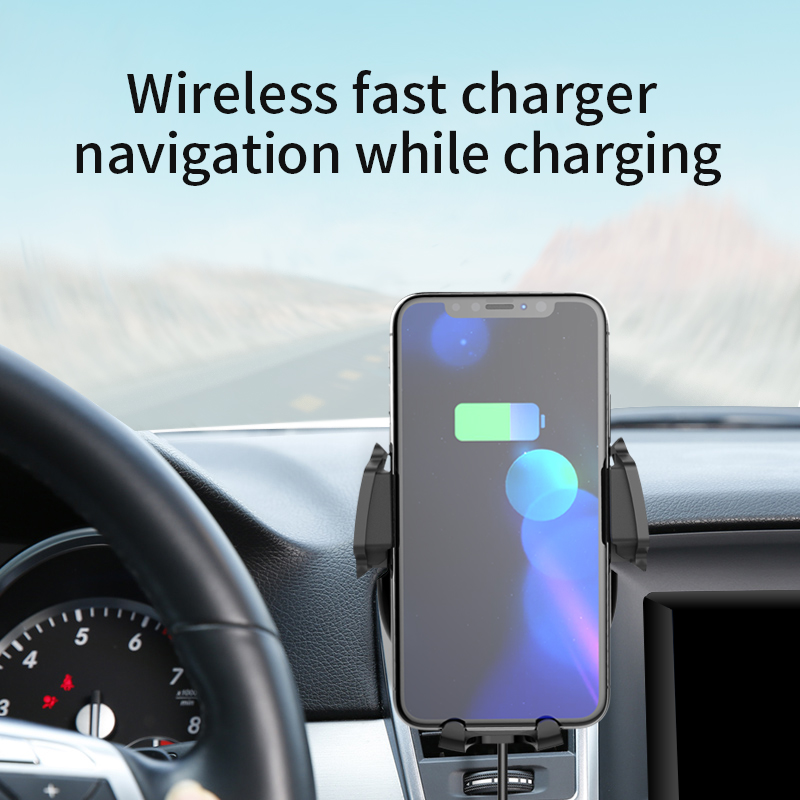Real 10W Fast Short Time Charging magnetic phone holder car mount wireless charger
