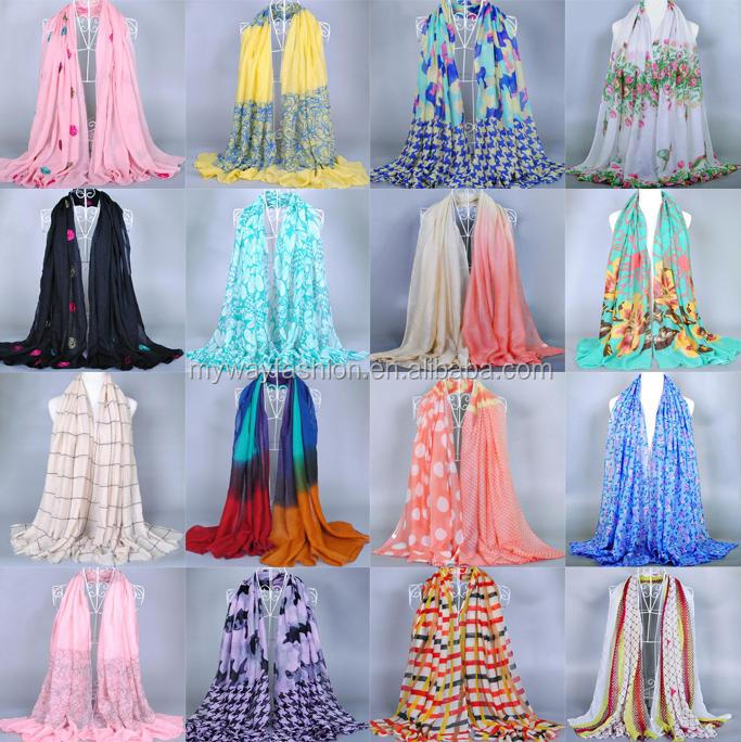 Fashion 2019 chiffon viscose sjaals