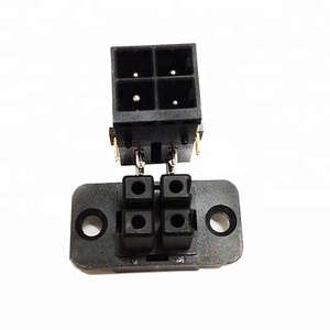 Hi-Quality! CZ36B-4T Tyco Amp equivalent Female 4 pin PBT composite cable plastic plug connector