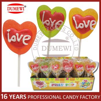 "Heart Shaped ""love"" Jelly Valentine Lollipops - Buy ..."
