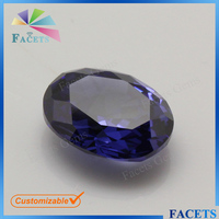 Wuzhou Gems Factory Direct Sale Synthetic CZ Oval Cut Tanzanite Imitation Gem Stones Wholesale