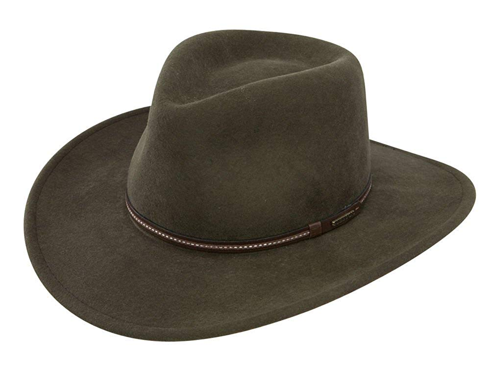 5ea16d56df8 Get Quotations · Stetson Men s Gallatin Sage Green Crushable Wool Hat Sage  X-Large