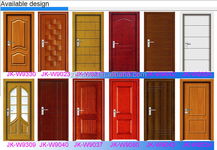 Jk W9092 Wooden Partition Door Sliding Semi Solid Wooden