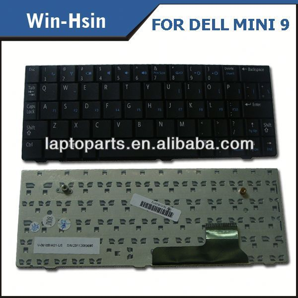 Wholesale lots New Laptop Keyboard chicony mini for Dell Mini 9 MINI 910 V091702AJ1
