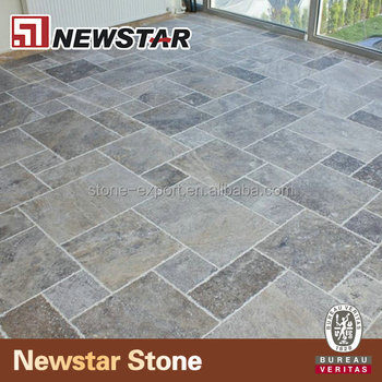 Sell Silver Travertine Natural Stone Tile Versailles Pattern
