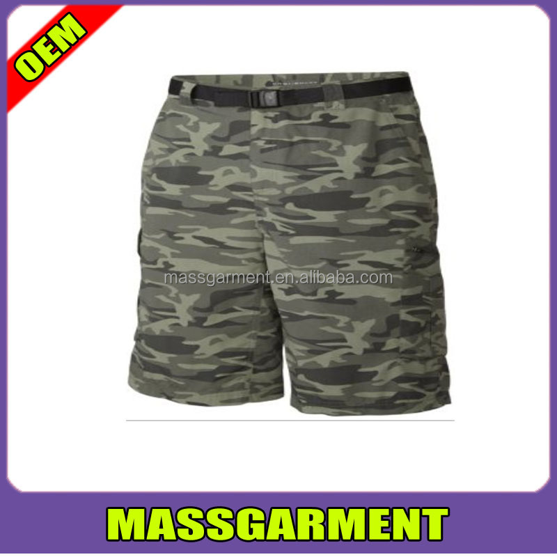 High quality wholesale ripstop mens camouflage fabric shorts fatigue purple design hunting shorts