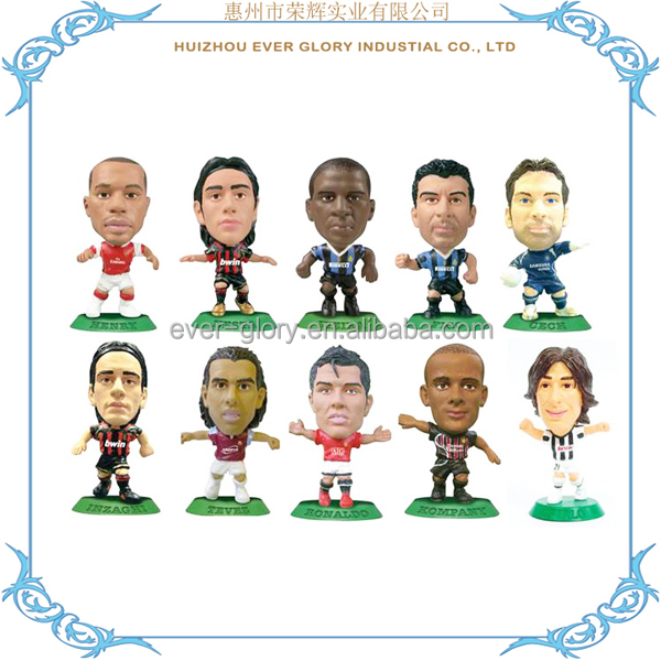 Custom Plastic Football Player Figurine Sports Soccer Player Figurines