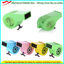 New Mini fan / Colorful Cheering Football Fans Plastic Whistle with rechargeable fan