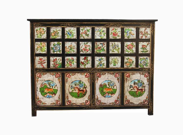 Chino antiguo gabinete muebles tibetanos armarios de for Muebles tibetanos