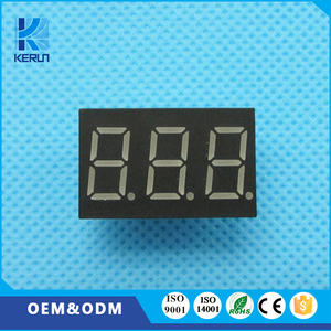 Common anode white 0.36 inch 10 pins 3 digit 7 segment led clock digital number display for indoor usage