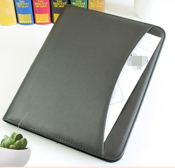Bindmiddel Notebook Pocket Bestand Zakelijke Organizer A4 PU Leather Portfolio Map