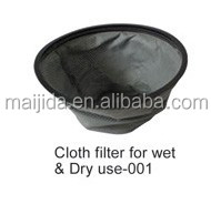 Spare part of vacuum cleaner ash filter cloth filter for wet and dry