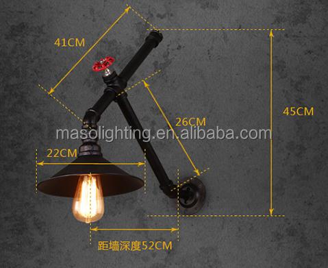 Vintage lampada da parete ms w decorazione handmade tubo di