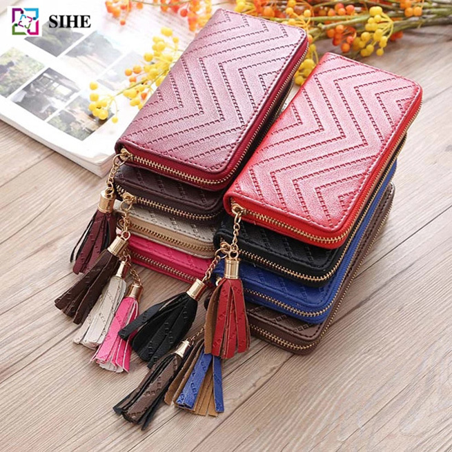 pu designer wholesale leather handbags unique designed money clip and travel passport wallet carteras
