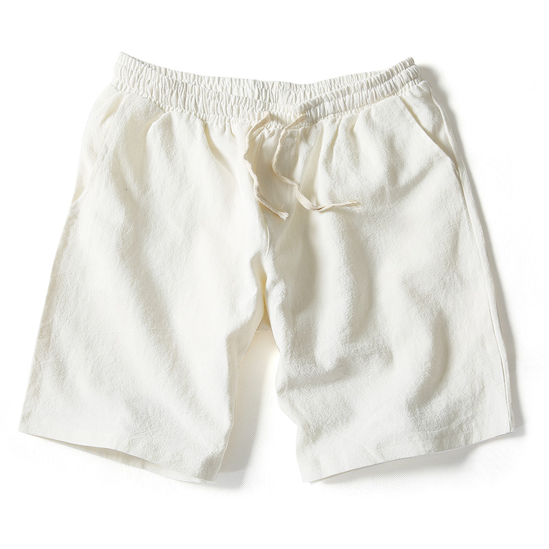 71af404c0a74 2019 Wholesale 2016 Summer New Men S Linen Shorts Causual Loose Beach Short  Pants For Men Fashion Solid White Running Male Short Trousers From Caojue