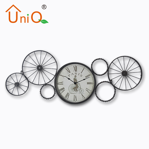 Large decorative metal wall clock with special designed