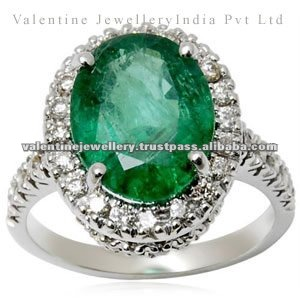 Emerald Diamond Ring White Gold Jewellery Designs Product On