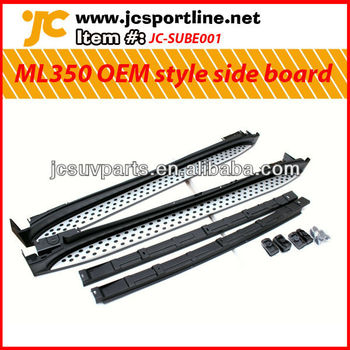 For 2009 11 mercedes benz ml350 aluminum alloy side for 2009 mercedes benz ml350 running boards