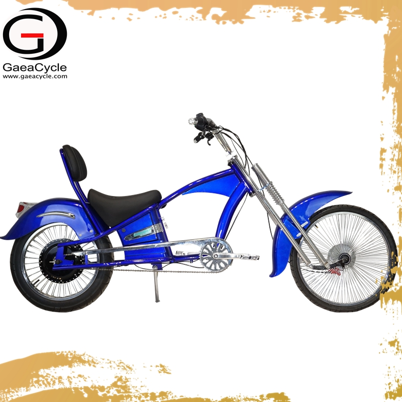 Gaea electric bicycle 2018 chopper motorcycle with pedals road bike