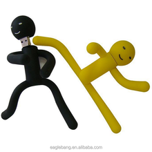 Creative toy PVC material rubber usb 4gb 8gb memory flash rubber man usb