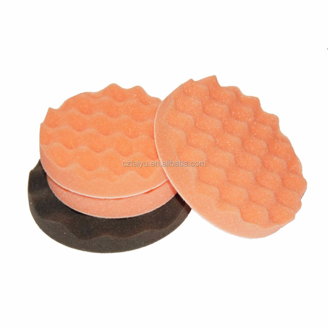 pu sanding backing pad and waffle buffing sponge kit for cleaning