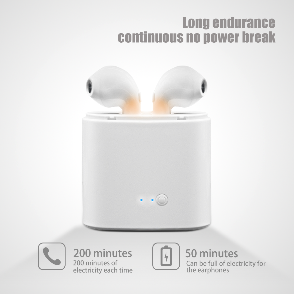 2019 Earphone Headphone Promotional Cheap Bluetooth Wireless Earphone i7s for Apple for iphone 8