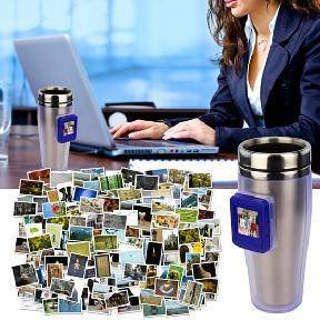 Digital photo frame mug