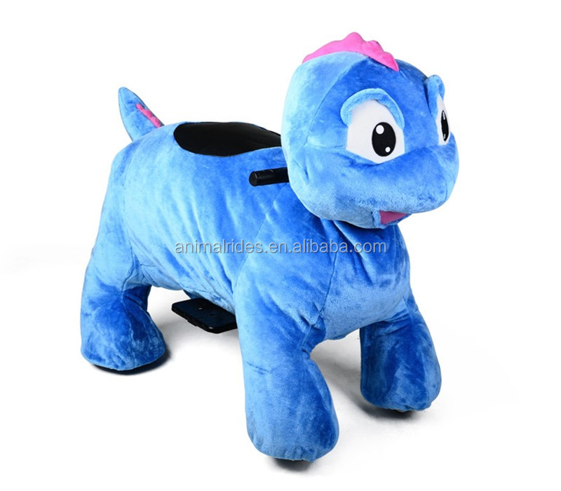 MZV5925 stuffed animal go kart walk with battery car sale plush riding zippy animals for children