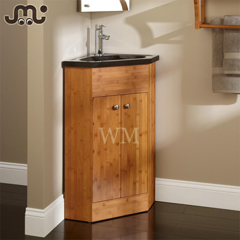 Varnished Bathroom Bamboo Vanity For Undermount Sink