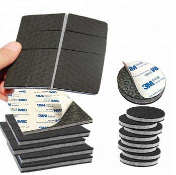 3m Adhesive Non Slip Furniture Pads Grippers 8 Pcs 2 Round Felt Plus 4