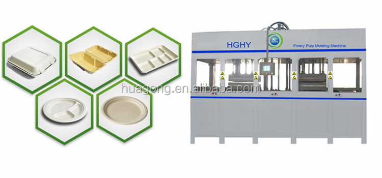 HGHY Full Automatic Thermal Forming Pulp Tableware Equipment