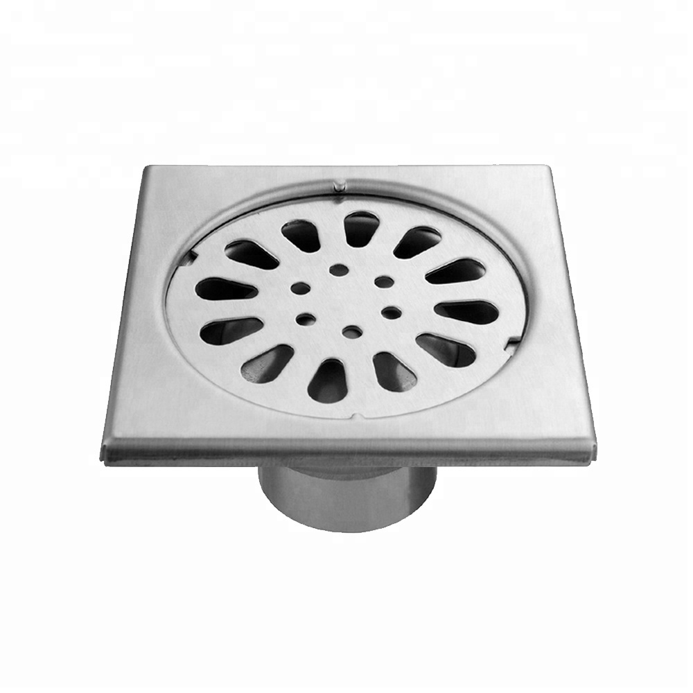 At Sale bathroom shower odor-resistant brushed nickel finish 304 stainless steel floor <strong>drain</strong>