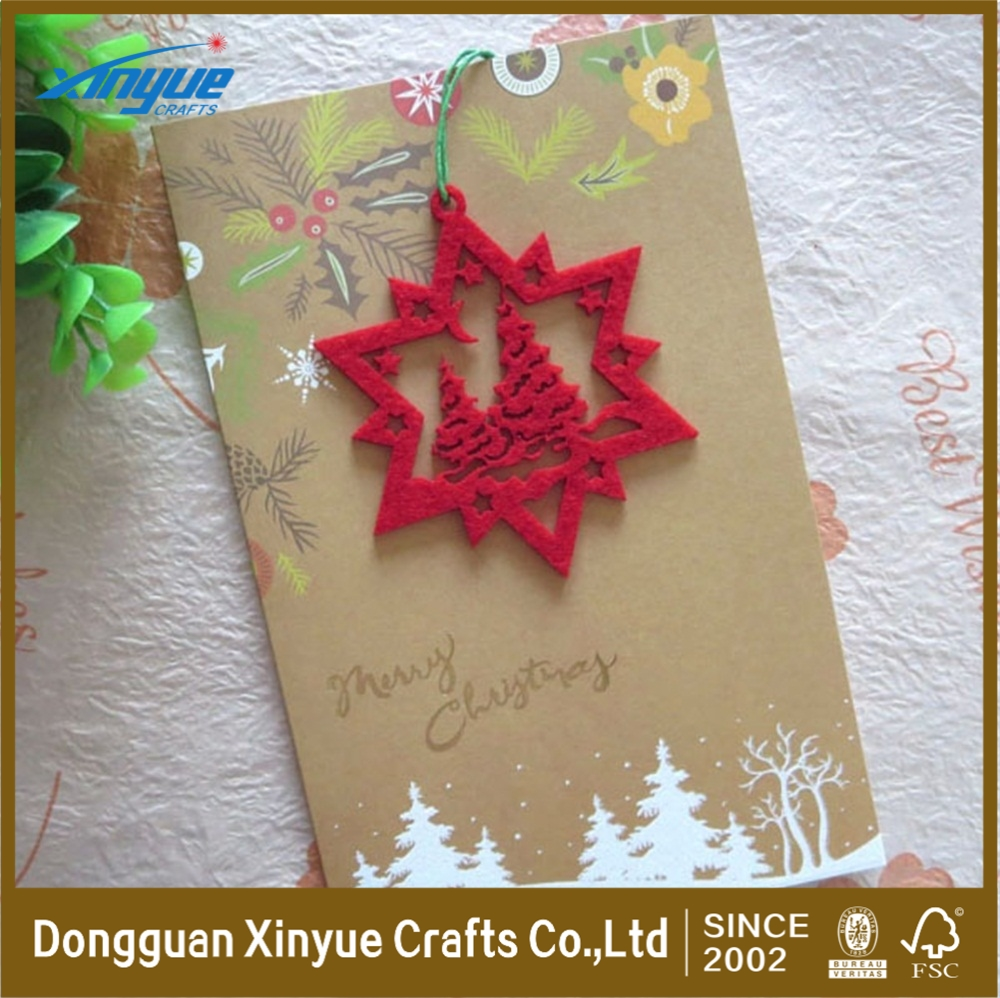 customize embroidered greeting card for Christmas