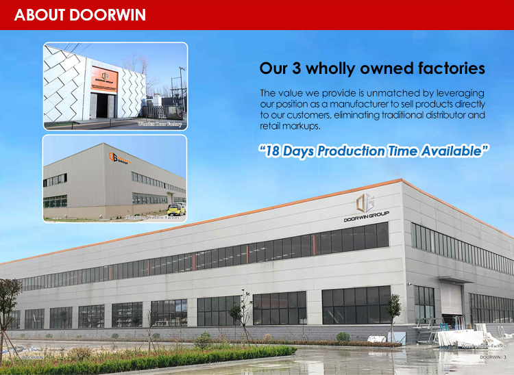 Factory Direct High Quality apartment entry doors aluminium wood door front