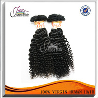 Modern Design curly hair and supreme remy hair weave
