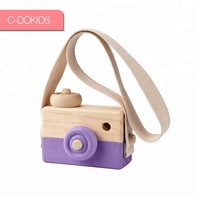 Kids Cute Wood Camera Natural Toys Birthday Christmas Gift