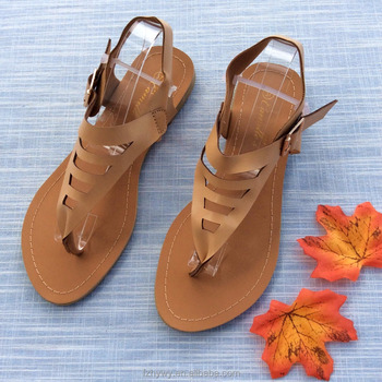 e8390af53e5d7 Ladies Latest Design Flat Fashion Sandals Fancy Sandal Shoes 2018 ...