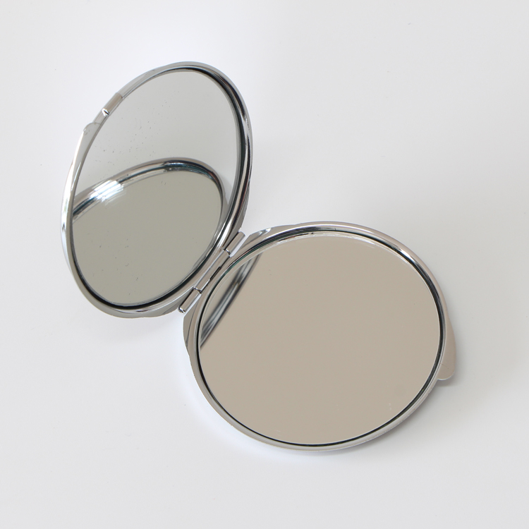 Cheap Double Sided Metal Frame Thin Pocket Mirror