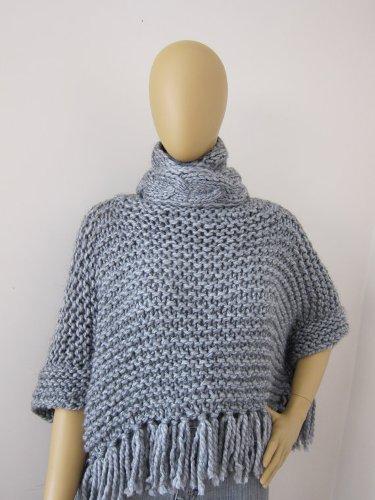 2014 Moda De Punto Poncho,Poncho Suéter Crochet Patrones Poncho ...