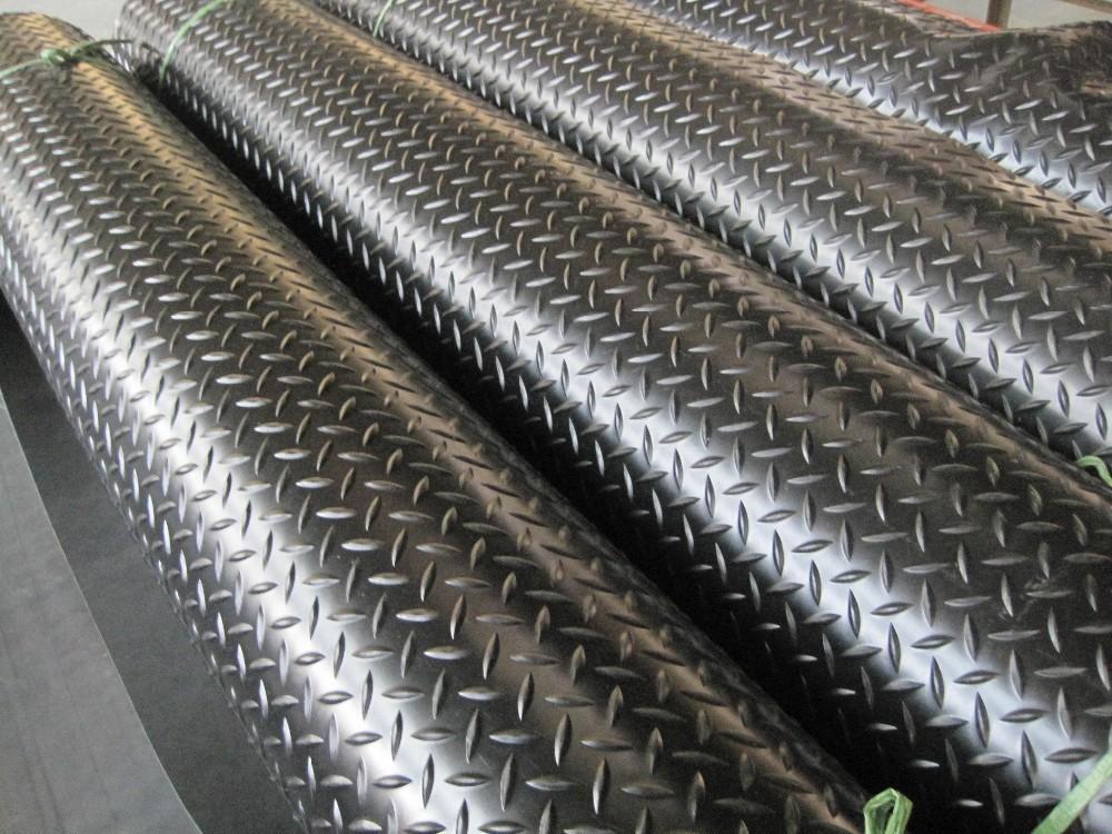 Great Wall Willow Rubber Sheet Diamond Plate Rubber Sheet Rubber Flooring  Rolls, 3mm X 4ft