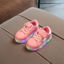 New design cheap customize sport children sneakers led kids light shoes
