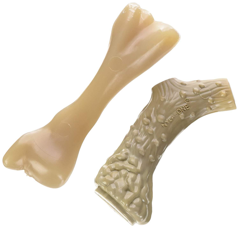 Nylabone Dura Antler & Mini Beef Bone Alternative Dog Chew Toys